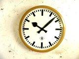 1950年代・ドイツ・TN(Telefonbau & Normalzeit)・テレフォンバウ・ウント・ノーマルツァイト・インダストリアル・クロック・アイボリー・鉄道時計(電池式・クォーツ改造)