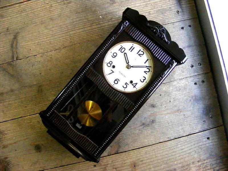 昭和初期頃の古時計の精工舎・振り子時計・#1603(電池式・クォーツ改造)が仕上がりました。