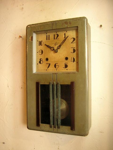 大正頃の地球馬印・尾張時計・振り子時計(クォーツ改造) pillike... 大正頃の地球馬印・