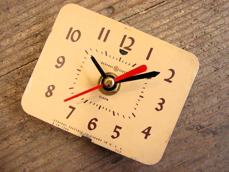 1960年代頃・アメリカ・ゼネラル・エレクトリック・アンティーク・クロック・文字盤・掛時計                                    [14E29]