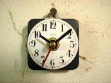 1940年代頃のスイス・8デイ・アンティーク・クロックの文字盤の掛時計(丸型・ホーロー・赤秒針・オール数字)