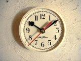 1960年代頃のアメリカ・セストーマス・アンティーク・クロックの文字盤の掛時計(丸型・白・赤秒針)
