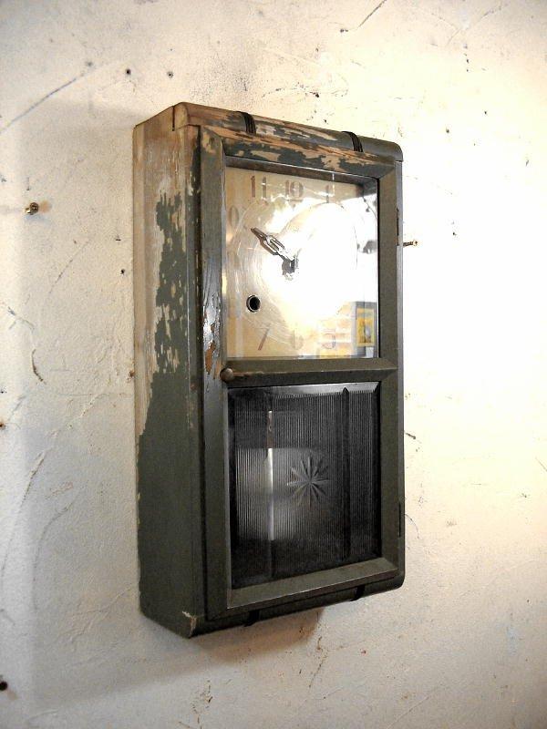 画像4: 大正頃・Meiji・明治時計・振り子時計・緑色(渦ボン・電池式・クォーツ改造)