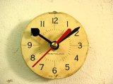 1960年代頃・アメリカ・ウェストクロックス・アンティーク・クロック・文字盤・掛時計・丸型・白・赤秒針