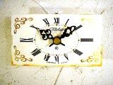 1960年代頃・ロシア・Crala・アンティーク・クロック・文字盤・掛時計(長方形・白)