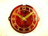 1960年代頃・ロシア・ダイヤマーク・アンティーク・クロック・文字盤・掛時計(丸型・赤)