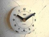 1960年代頃・ロシア・VEGA・アンティーク・クロック・文字盤・掛時計(丸型・白色)