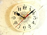 1960年代頃・ロシア・Rumaph・アンティーク・クロック・文字盤・掛時計(丸型・白・唐草)・電池式・スイープ・クォーツ