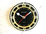 1960年代頃・ロシア・Rumaph・アンティーク・クロック・文字盤・掛時計(丸型・黒色)・電池式・スイープ・クォーツ