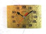 1960年代頃・ロシア・Marrua・アンティーク・クロック・文字盤・掛時計(角型・金)・電池式・スイープ・クォーツ