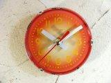 1960年代頃・ロシア・Maak・アンティーク・クロック・文字盤・掛時計(丸型・赤)・電池式・スイープ・クォーツ
