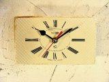 1960年代頃・ロシア・SLAVA・アンティーク・クロック・文字盤・掛時計(角型・ローマ数字)・電池式・スイープ・クォーツ