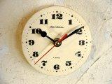 1960年代頃・ロシア・Jantar・4Jewels・アンティーク・クロック・文字盤・掛時計・電池式・スイープ・クォーツ