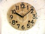 大正頃・明治時計・アンティーク・振り子時計・文字盤・掛時計(電池式・クォーツ)
