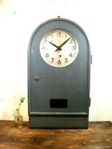 KH・工業用・R型・親時計・振り子時計・手巻式(電池式・クォーツ改造)