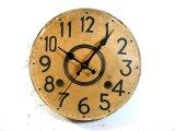 大正頃・無名・アンティーク振り子時計・文字盤・掛け時計(電池式・スイープ・クォーツ)
