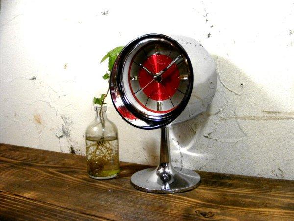 画像2: 1970年代・TOKYO・TOKEI・東京時計・アラーム・クロック・NO.1865・手巻式・足付き・赤文字盤(電池式・スイープ・クォーツ改造)