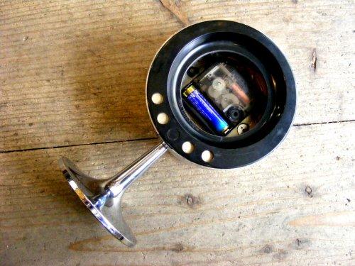 2: 1970年代・TOKYO・TOKEI・東京時計・アラーム・クロック・NO.1865・手巻式・足付き・赤文字盤(電池式・スイープ・クォーツ改造)