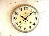 昭和中期頃・愛知時計・アイチ・スーパー・エイト・アンティーク・振り子時計・文字盤・掛け時計(電池式・スイープ・クォーツ)