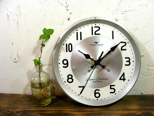 画像2: 昭和中期頃・タカノ・アンティーク振り子時計・文字盤・掛け時計(電池式・スイープ・クォーツ)