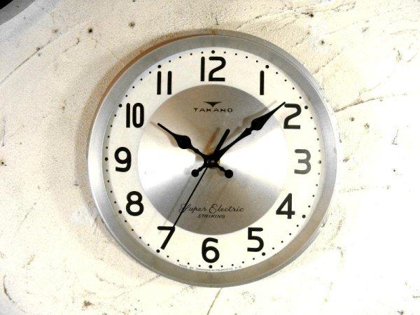 画像1: 昭和中期頃・タカノ・アンティーク振り子時計・文字盤・掛け時計(電池式・スイープ・クォーツ)