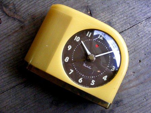 1: 1950年代・アメリカ・ウエストクロックス・ムーンビーム・デスククロック(電池式・スイープ・クォーツ改造)