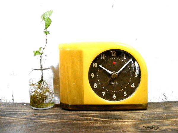 画像1: 1950年代・アメリカ・ウエストクロックス・ムーンビーム・デスククロック(電池式・スイープ・クォーツ改造)