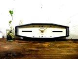 昭和40年代・セイコー・ROBIN・ロビン・NO.2438・置時計・2石・手巻式・横長・足付き・ベークライト製(電池式・スイープ・クォーツ改造)