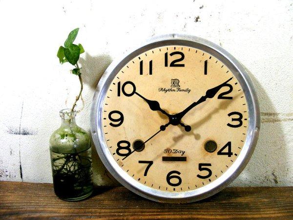 画像2: 昭和40年代頃・リズム・ファミリー・アンティーク・振り子時計・文字盤・掛時計(電池式・スイープ・クォーツ)