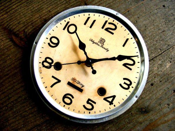 画像3: 昭和40年代頃・リズム・ファミリー・アンティーク・振り子時計・文字盤・掛時計(電池式・スイープ・クォーツ)