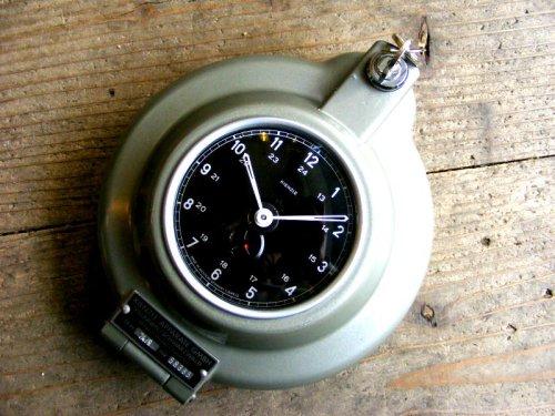 1: 1950年代・西ドイツ・キンツレー・インダストリアル・タコグラフ・クロック・デッドストック(LED・セコンドフラッシュ付・クォーツ改造)