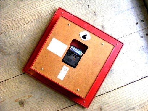 2: 1970年代・セイコー・トランジスター・振動子時計・RA727・角型・赤枠・木目調文字盤(電池式・クォーツ改造)