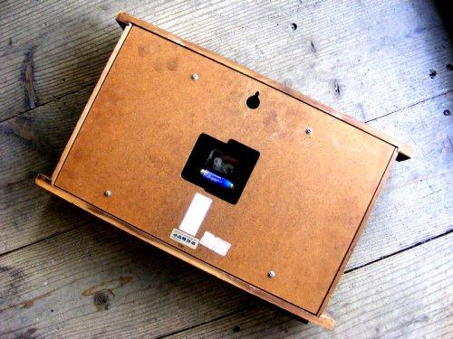 2: 1970年代・セイコー・トランジスター・振動子時計・RA7711・組み木・角型(電池式・スイープ・クォーツ改造)