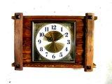 1970年代・セイコー・トランジスター・振動子時計・RA7711・組み木・角型(電池式・スイープ・クォーツ改造)