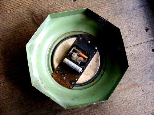 2: 1940年代・アメリカ・ROYAL ELECTRIC・ロイヤル・エレクトリック・クロック・8角型・水色(電池式・スイープ・クォーツ改造)