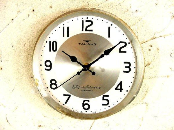 画像1: 昭和30年代頃・セイコーソノーラ・アンティーク・振り子時計・文字盤・掛時計・白色(電池式・スイープ・クォーツ)