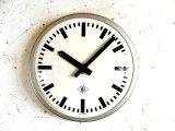 1970年代・ドイツ・TN(Telefonbau & Normalzeit)・テレフォンバウ・ウント・ノーマルツァイト・インダストリアル・クロック・鉄道時計・シルバー(電池式・クォーツ改造)