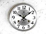 昭和中期頃・愛知時計・アイチ・スーパー・エイト・30日巻・アンティーク・振り子時計・文字盤・掛け時計(電池式・スイープ・クォーツ)