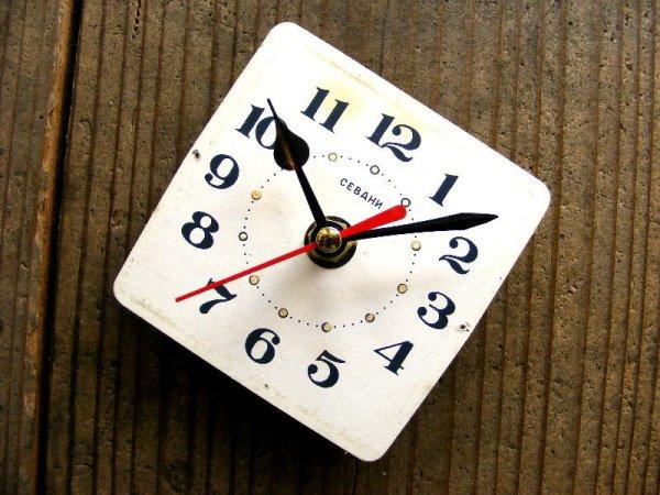 画像3: 1960年代頃・ロシア・CEBAHN・アンティーククロック・文字盤・掛時計・電池式・スイープ・クォーツ
