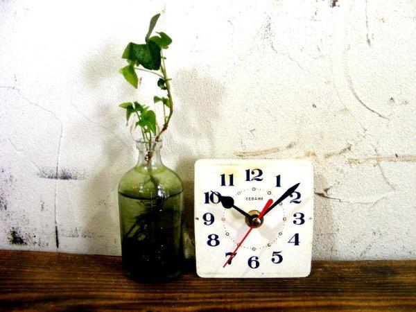 画像2: 1960年代頃・ロシア・CEBAHN・アンティーククロック・文字盤・掛時計・電池式・スイープ・クォーツ