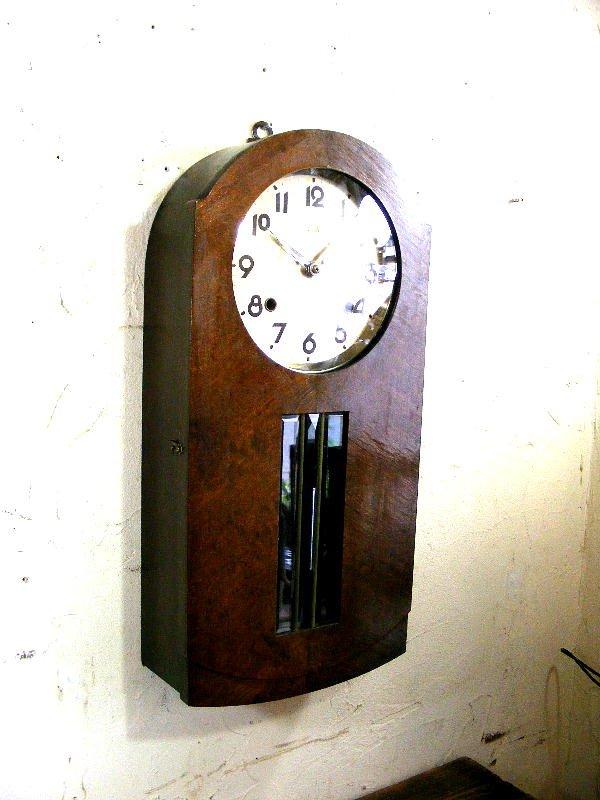 画像3: 大正頃・RUBY・ルビー印・加賀屋商店・R型・振り子時計(電池式・クォーツ改造)