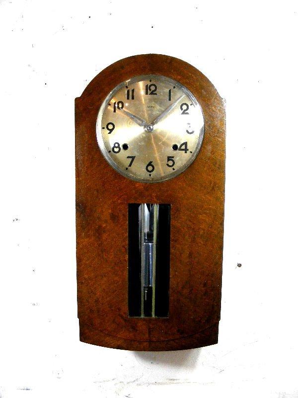 画像1: 大正頃・RUBY・ルビー印・加賀屋商店・R型・振り子時計(電池式・クォーツ改造)