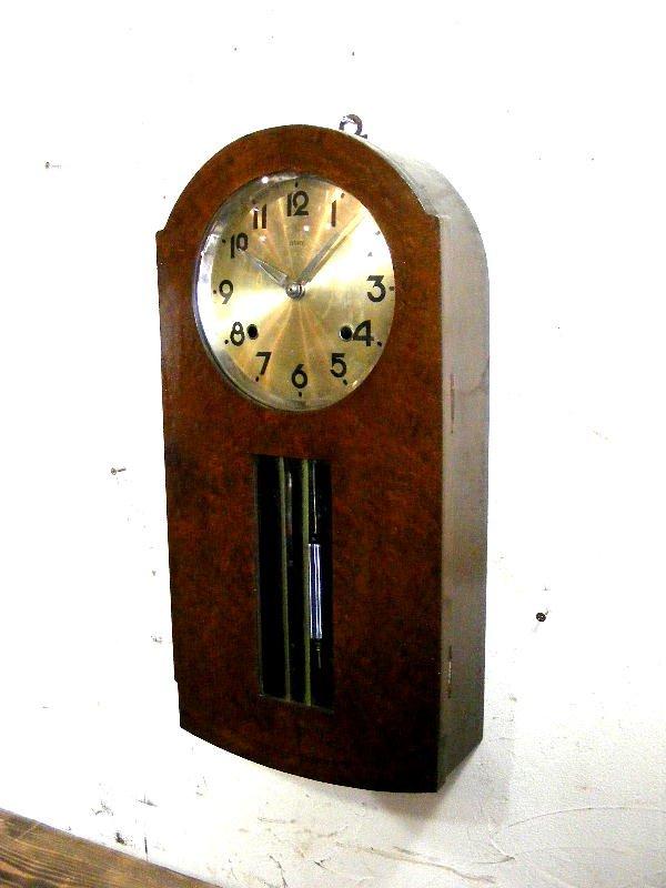 画像2: 大正頃・RUBY・ルビー印・加賀屋商店・R型・振り子時計(電池式・クォーツ改造)