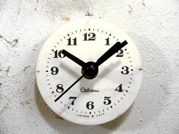 画像1: 1960年代頃・ロシア・Cebaru・アンティーク・クロック・文字盤・掛時計・スイープ・クォーツ