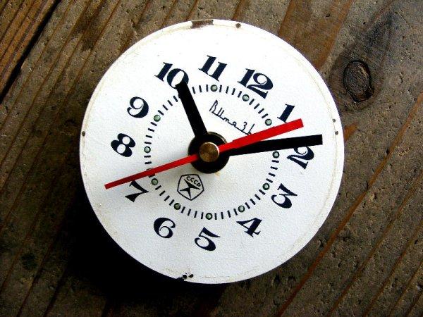 画像3: 1960年代頃・ロシア・Bume3b・アンティーククロック・文字盤・掛時計・赤秒針・電池式・スイープ・クォーツ