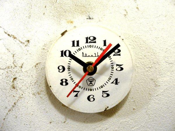 画像1: 1960年代頃・ロシア・Bume3b・アンティーククロック・文字盤・掛時計・赤秒針・電池式・スイープ・クォーツ