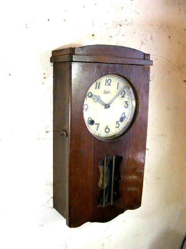 画像3: 昭和初期頃・オキュパイド・ジャパン・明治時計・振り子時計(電池式・クォーツ改造)