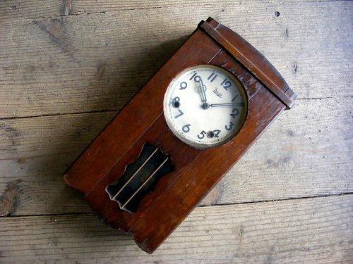 1: 昭和初期頃・オキュパイド・ジャパン・明治時計・振り子時計(電池式・クォーツ改造)