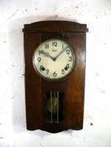 昭和初期頃・オキュパイド・ジャパン・明治時計・振り子時計(電池式・クォーツ改造)