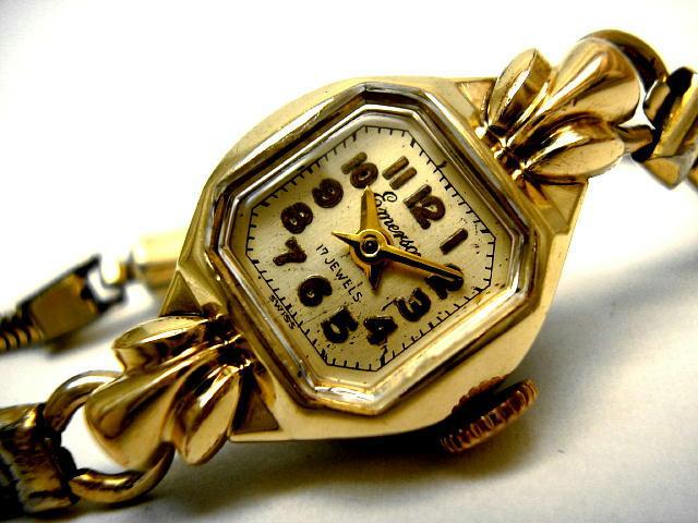 sports shoes c1e11 d37b7 レディースアンティーク腕時計のハミルトン・エマーソン ...
